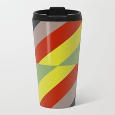 Modernist Geometric Graphic Art Metal Travel Mug