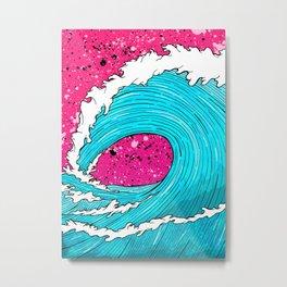 The Sea's Wave Metal Print