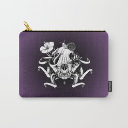 The Skull the Flowers and the Snail Carry-All Pouch