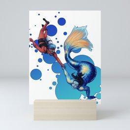 The Mermaid's Girlfriend Mini Art Print