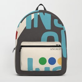Inside Out - Minimal Movie Poster Backpack