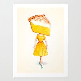 Cake Head Pin-Up - Lemon Art Print