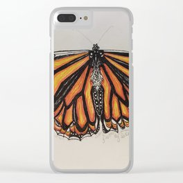 Butterfly Kisser Clear iPhone Case