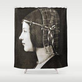 Bianca Sforza by Leonardo da Vinci Shower Curtain