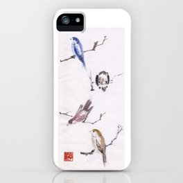 Sumi Bird Study iPhone Case