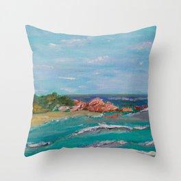 La Punta beach Mexico, Puerto Escondido Throw Pillow