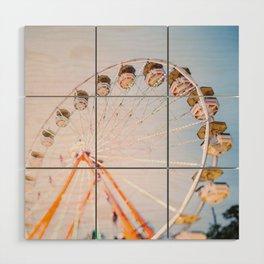 Ferris Wheel 4 Wood Wall Art