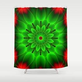 Mandala Green Shower Curtain