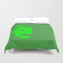 Space'nvaded 40th Duvet Cover
