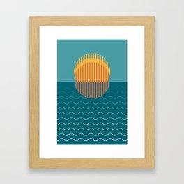 Minimalist Sunset Over Ocean, Travel Print, Sun Set Poster, Large Printable Photography, Wall Art Framed Art Print