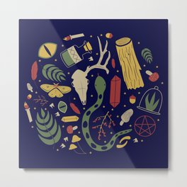 Witchy Gems Metal Print