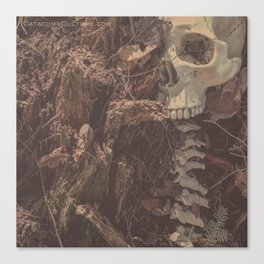 Catacomb Culture - Lost in the Woods Human Skull Canvas Print