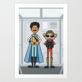 EP6 : Lando & Nien Nunb Art Print