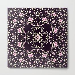 Kaleidoscope Pink Little Daisies Design Print Metal Print
