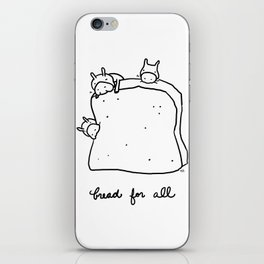 bread for all iPhone Skin