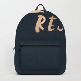 RESIST 7.0 - Rose Gold on Navy #resistance Backpack