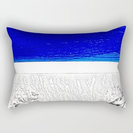 Blue river and a white landscape Rectangular Pillow