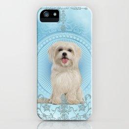 Cute little havanese puppy iPhone Case
