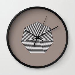 Basic geometry: heptagon Wall Clock