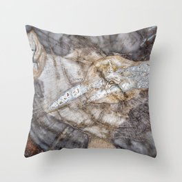 Petrified wood 3266 Throw Pillow