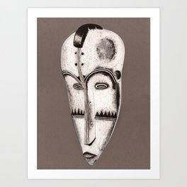 African mask Art Print