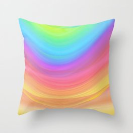 Layers of Colors Throw Pillow