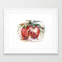 pomegranate Framed Art Prints featuring Pomegranate by Irina Vinnik