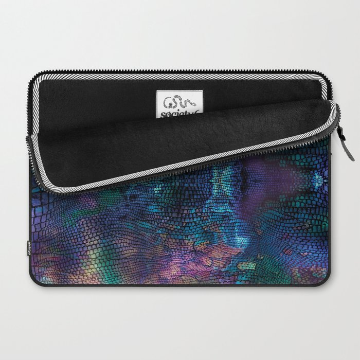 Violet snake skin pattern Laptop Sleeve