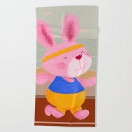 Bunny Runner Beach Towel