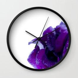 Purple rose Wall Clock