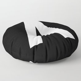 Letter A (White & Black) Floor Pillow