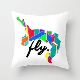 Fly Parkour Throw Pillow