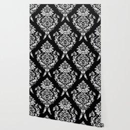 SLOTH FLORAL DAMASK Wallpaper
