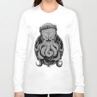 cthulu Long Sleeve T-shirts featuring The Octopus KIng by StinkBrain