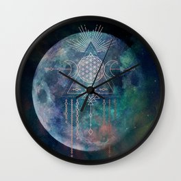 Lunar Goddess Mandala Wall Clock