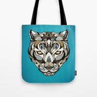 leopard Tote Bags featuring Leopard by Andreas Preis