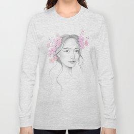 Japanese Cherry Blossom Long Sleeve T-shirt
