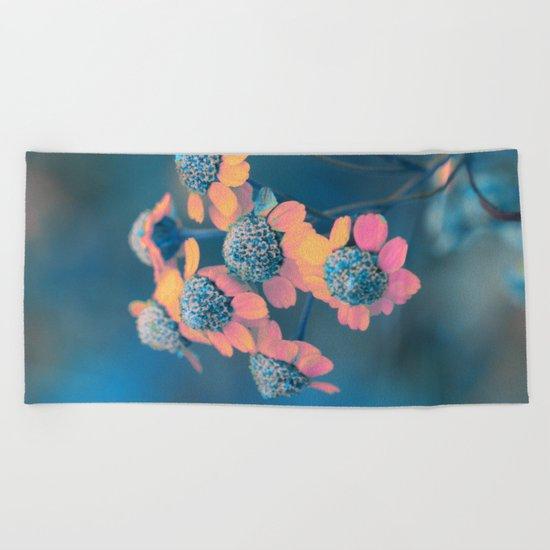 Softly flowers(2) Beach Towel