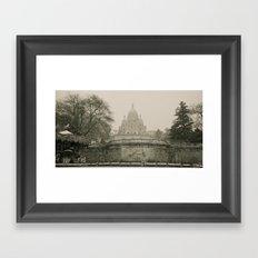 Sacre Coeur on a Snowy Day Framed Art Print