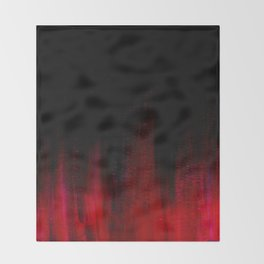Red and Black Abstract Throw Blanket