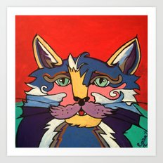 The Streetwise Old Colorful Cat Prints, Posters and Pillows Art Print