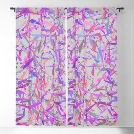 Purple pink surprise party exclamation point camouflage Blackout Curtain