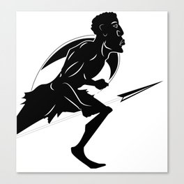 zulu warrior Canvas Print