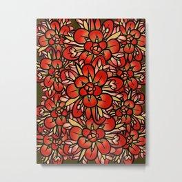 Indian Paintbrushes Metal Print