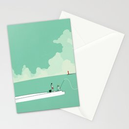 Sea fishing Stationery Cards