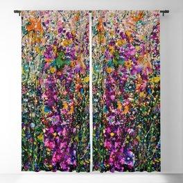 Hollyhock Fantasy Pollock Style Painting  Blackout Curtain