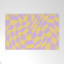Play Checkers Lavender Welcome Mat