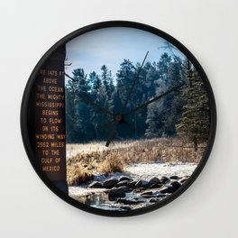 Mississippi Headwaters in December Wall Clock