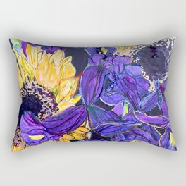Sunflower & Iris Rectangular Pillow