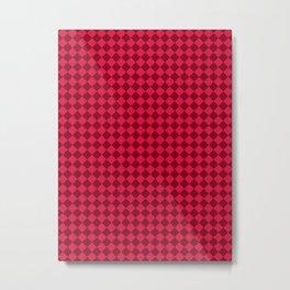 Crimson Red and Burgundy Red Diamonds Metal Print